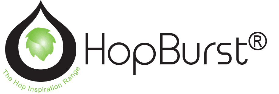 HopBurst logo. This is for dry hop aroma